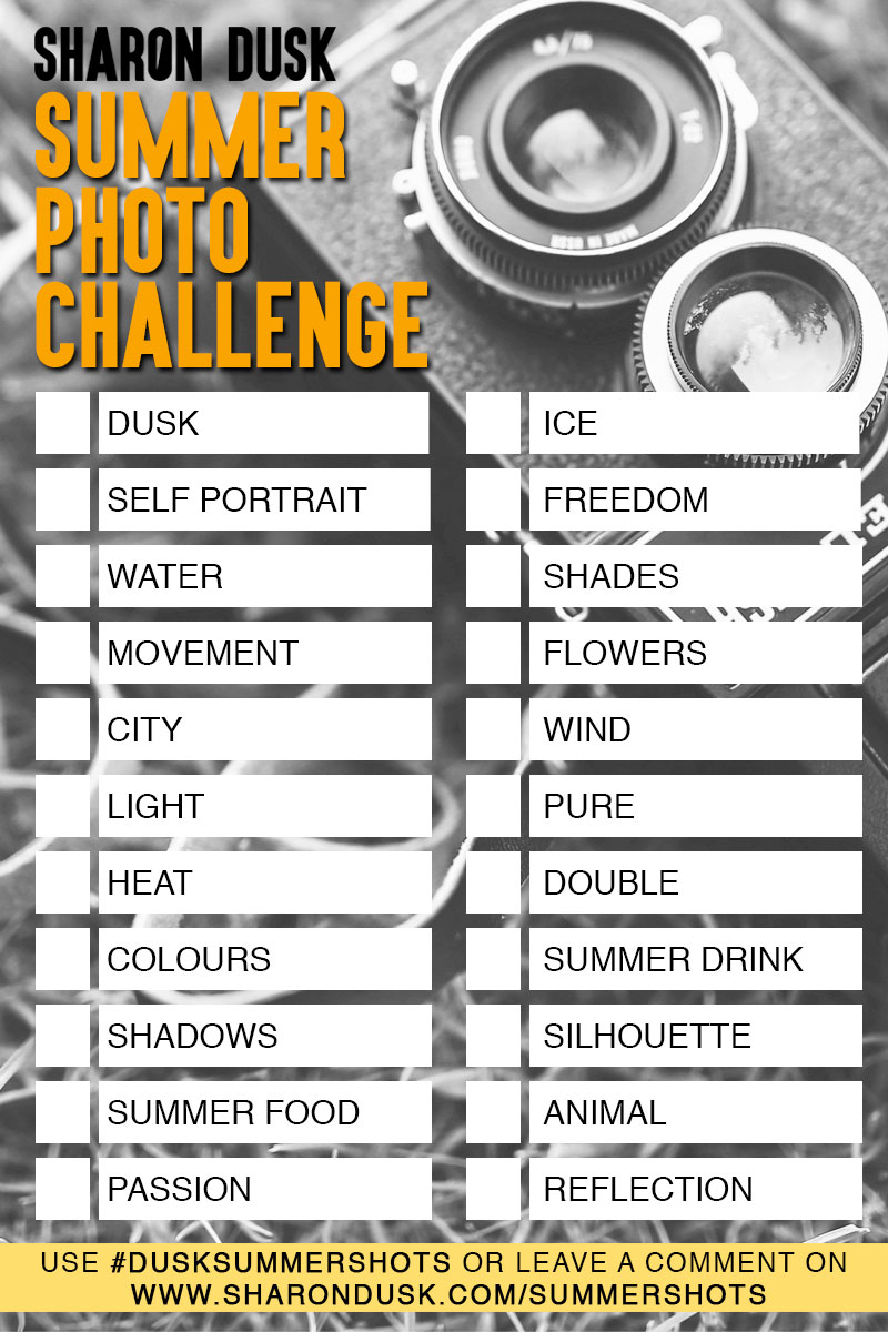 Summer photography challenge. Improve your photography skills.