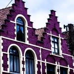 Bruges purple building