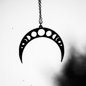 Moonphases necklace etsy